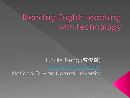  The significance of online English teaching and learning  Online task development  Online technology  Pedagogical strategies  Reflection.