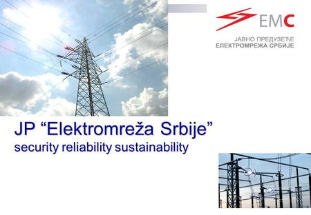 "JP ""Elektromreža Srbije"" security reliability sustainability."