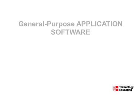 General-Purpose APPLICATION SOFTWARE