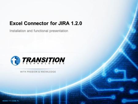 Excel Connector for JIRA 1.2.0 Installation and functional presentation.