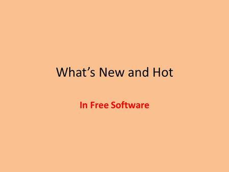 What's New and Hot In Free Software. Kingsoft Office Suite Does not use Java Free version has Microsoft 2003 interface – Paid versions can switch between.