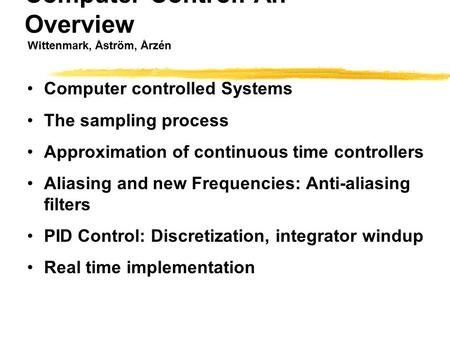 Computer Controlled Systems Theory And Design Download