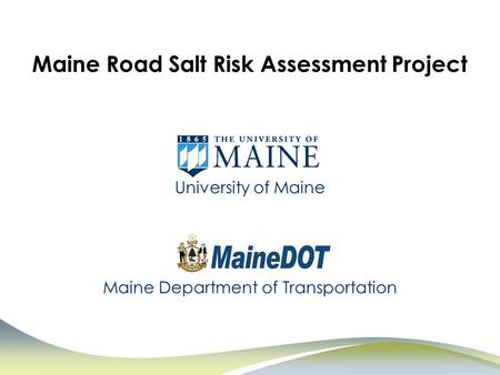 Maine Road Salt Risk Assessment Project