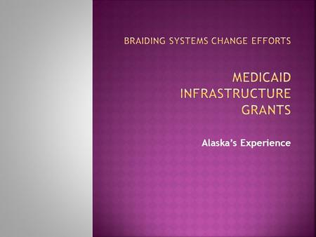 Alaska's Experience.  Lack of policy that promotes work as an expectation (or employment first)  Fear of losing health benefits  Financial disincentives.