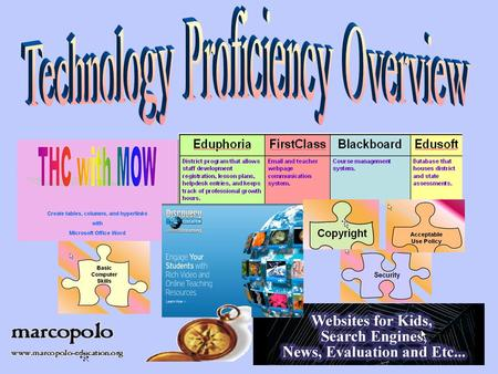 Who do I belong to? Webpages email EduphoriaFirstClassBlackboardEdusoft District program that allows staff development registration, lesson plans, helpdesk.