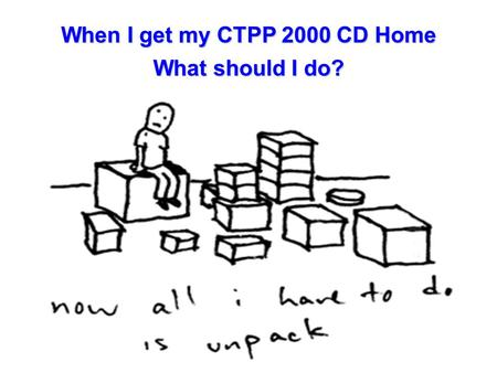 When I get my CTPP 2000 CD Home What should I do?.