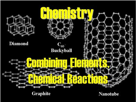 Chemistry Combining Elements, Chemical Reactions.
