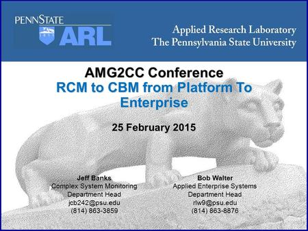 RCM to CBM from Platform To Enterprise