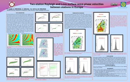 Two-station Rayleigh and Love surface wave phase velocities between stations in Europe DATA AND METHOD We study the Rayleigh and Love surface wave fundamental.