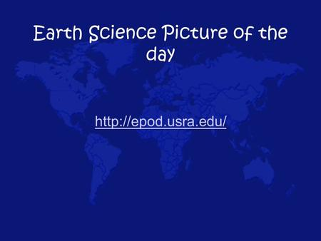 Earth Science Picture of the day