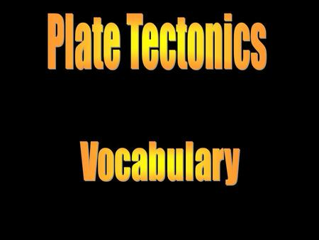 Plate Tectonics. The process where the lithosphere plunges back into the interior of the Earth.