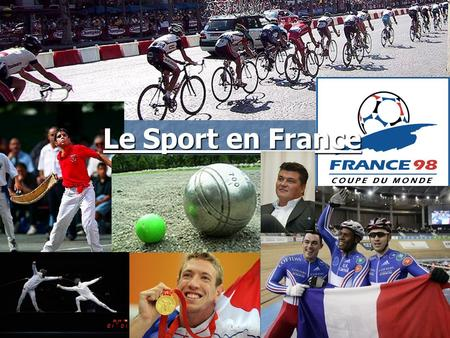 Le Sport en France. List of the 20 sports counting the biggest number of players in France in 2007. 1: le football 11: la natation 1: le football 11:
