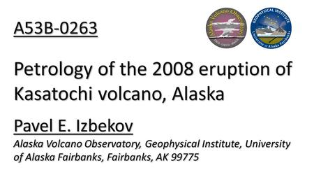 Abstract The Kasatochi volcano, one of the Andreanof Islands in western Aleutians, erupted explosively with little warning on August 7, 2008. For two.