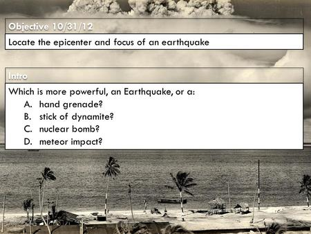 an introduction to the analysis of earthquakes Seismology (/ s aɪ z ˈ m ɒ l ə dʒ i / from ancient greek σεισμός (seismós) meaning earthquake and -λογία (-logía) meaning study of) is the scientific study of earthquakes and the propagation of elastic waves through the earth or through other planet-like bodies.