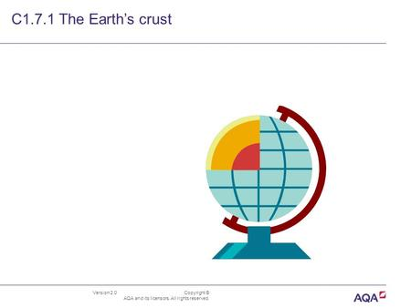 Version 2.0 Copyright © AQA and its licensors. All rights reserved. C1.7.1 The Earth's crust.