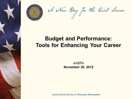 Budget and Performance: Tools for Enhancing Your Career AABPA November 20, 2012.