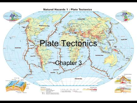 Plate Tectonics Chapter 3. How Does The Earth Change With Depth Earth's Crust – Outermost layer. –Continental Crust - 35-40 km in thickness –Oceanic Crust.