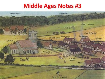 Middle Ages Notes #3. I. Feudalism A.The decline of Roman influence in Western Europe left people with little protection against invasion, so they entered.