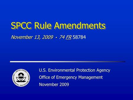 U s environmental protection agency office of emergency for Environmental management bureau region 13