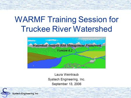 WARMF Training Session for Truckee River Watershed