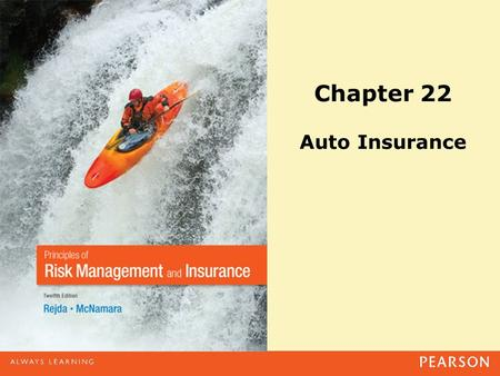 Chapter 22 Auto Insurance. Copyright ©2014 Pearson Education, Inc. All rights reserved.22-2 Agenda Personal Auto Policy –Part A: Liability Coverage –Part.