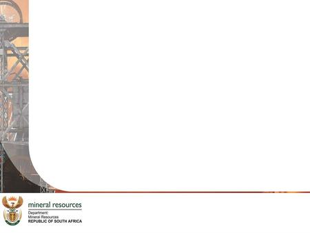 REPORTING ON TB AND HIV/AIDS IN THE MINING INDUSTRY DR L NDELU CHIEF DIRECTORATE OCCUPATIONAL HEALTH DEPARTMENT OF MINERAL RESOURCES DATE: 31 AUGUST 2013.