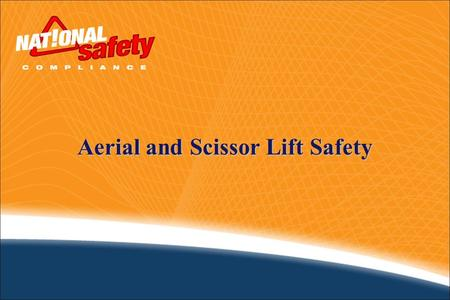 Aerial and Scissor Lift Safety