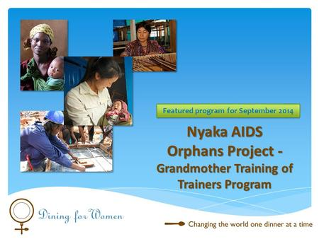 Nyaka AIDS Orphans Project - Grandmother Training of Trainers Program Featured program for September 2014.