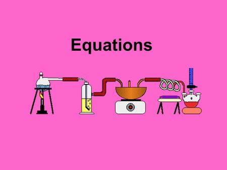 Equations. Nomenclature Terminology of chemistry. Also known as the naming process of compounds.