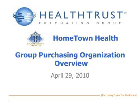 Group purchasing organization business plan