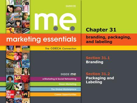 Section 31.1 Branding Chapter 31 branding, packaging, and labeling Section 31.2 Packaging and Labeling.