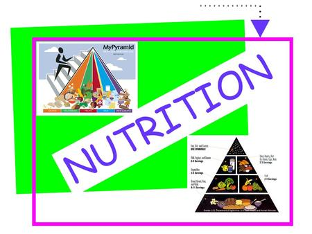 NUTRITION What do we know about these 2 pyramids?