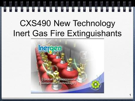 Inert Gas Fire Extinguishants