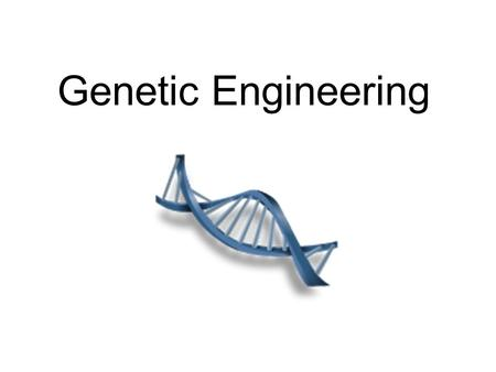 Genetic Engineering. Biotechnology and Recombinant DNA.