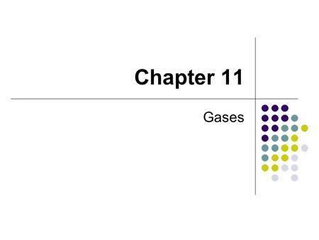 Chapter 11 Gases. Conditions that affect gases volume pressure temperature # of particles.