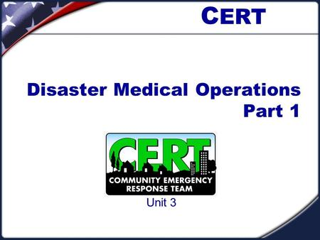 Disaster Medical Operations Part 1