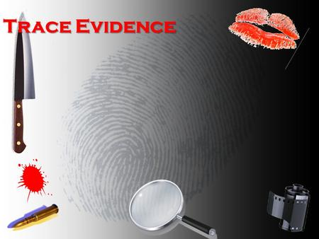 Trace Evidence. What do you think trace evidence is? Materials that are small enough to be easily overlooked by a crime scene investigator They are so.