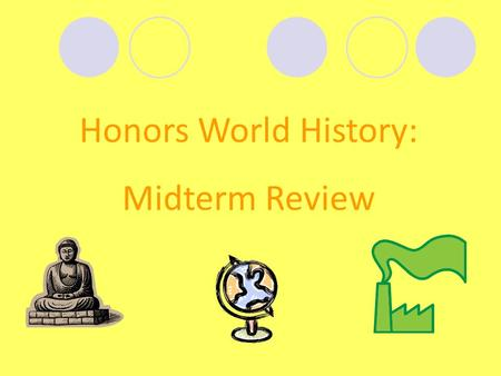 Honors World History: Midterm Review. The Renaissance.