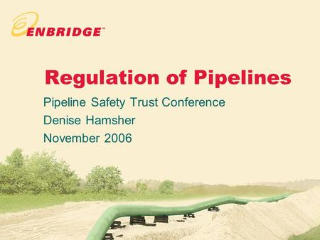 Regulation of Pipelines