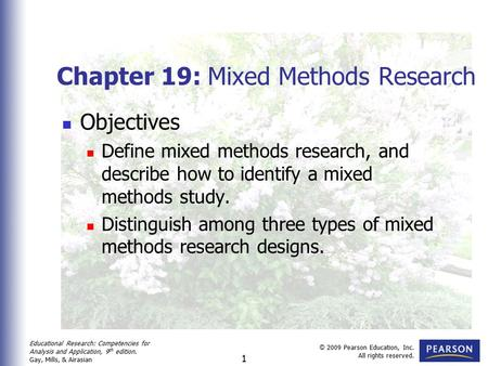 Chapter 19: Mixed Methods Research
