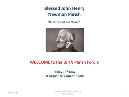 "Blessed John Henry Newman Parish ""Heart Speaks to Heart"""