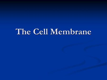 The Cell Membrane. Purpose of the membrane Purpose of the membrane 1) Transport raw materials into the cell. 2) Transport manufactured products and wastes.