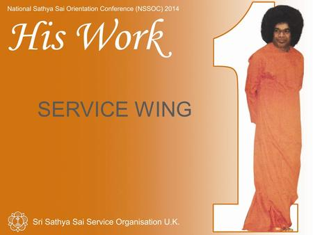 SERVICE WING. His Work Introduction Current activities Activities for consideration Implementing Activities Message & Conclusion.