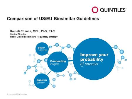 Comparison of US/EU Biosimilar Guidelines