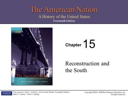 ordeal of reconstruction essay