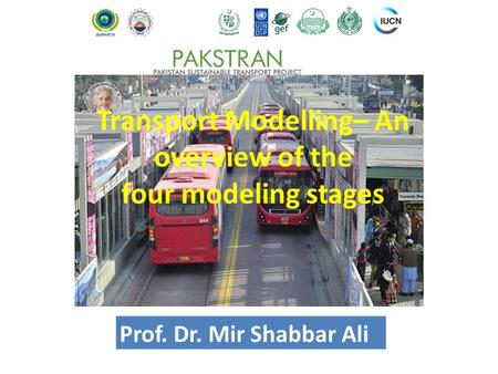 Transport Modelling– An overview of the four modeling stages