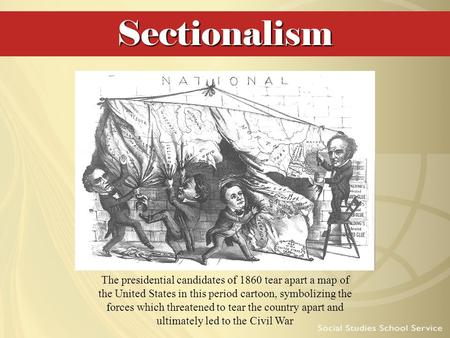 "Sectionalism Although the ratification of the Constitution theoretically brought the former colonies into a ""more perfect union,"" severe regional tensions."