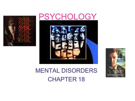 PSYCHOLOGY MENTAL DISORDERS CHAPTER 18. ABNORMAL BEHAVIOR (actions on a regular basis) Person who suffers from extreme anxiety, endless worry, long periods.