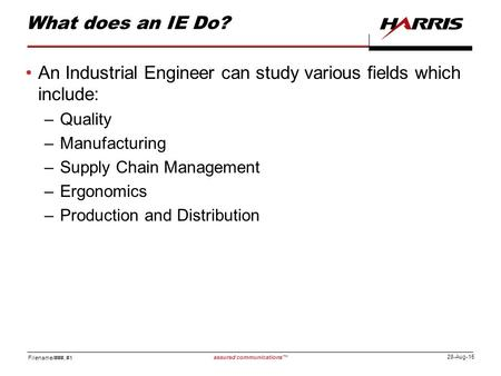 what do industrial engineers do