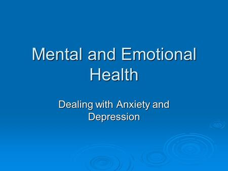 Emotional Health Center